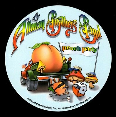 The Allman Brothers Band Peach Party Sticker Decal Hippie Gypsy Rock n Roll Bong (Rock N Roll Home Decor)