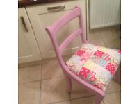 Upcycled table and 6 chairs great quality