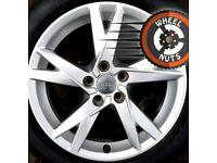 "17"" Genuine Audi A4 alloys Renault Trafic Vauxhall Vivaro excel cond Michelin tyres"