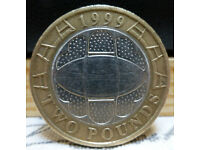 Rugby World Cup £2 coin – dated 1999.
