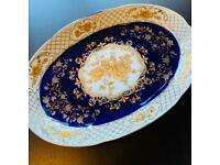 Cobalt fine porcelain serving plate