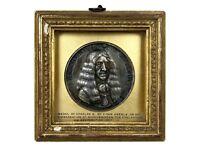 PIETER VAN ABEELE- KING CHARLES II EMBARKATION AT SCHEVENINGEN 1660 SILVER MEDAL