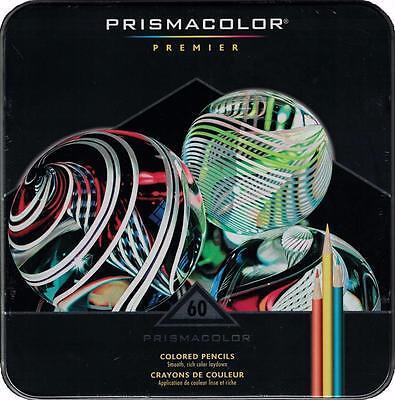 Prismacolor Premier Colored Pencils   Metal Tin Gift Set   60 Color Set