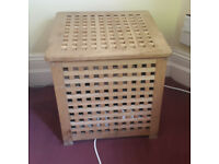 Wooken Ikea square lattice storage box, pine chest