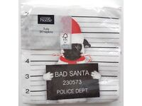 Bad Santa Pug Mugshot Napkins / Serviettes 3 Ply 33cm x 33cm