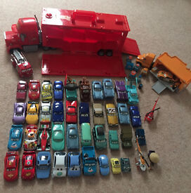 Disney Cars Mack Truck Carry Case, an Octane Gain Hauler Mack Truck and over 40 Disney Cars