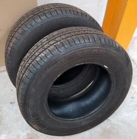 2 x 265 65 R17 Saferich FRC 66 M&S tyres new, cheap - collect only