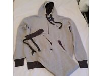 NEW RALPH LAUREN MEN FULL TRACKSUIT HOODIE & TROUSER WITH ZIP POCKET -GREY- SIZE: M,L & XL