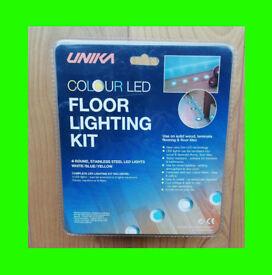 UNIKA Colour LED Floor Lighting Kit (Laminate, Wood, Tile) - NEW