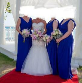 Ebony Rose bridesmaids dress x 3 in cobalt blue