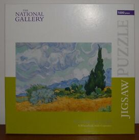 Vincent Van Gogh: A Wheatfield With Cypresses art Jigsaw Puzzle 1000 pieces The National Gallery