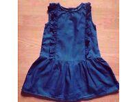 Baby Gap Child Girl's Dark Denim Sleeveless Sun Dress.Age 3 Years.
