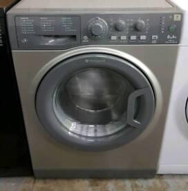 £130 Graphite Hotpoint Washing Machine - 6 Months Warranty