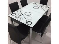 NEW EXTENDABLE DINING TABLE WITH 6 CHAIRS NOW IN STOCK
