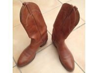 Leather cowboy boots 'The Eldorado' handmade in USA 9.5 (UK)