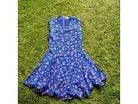 H&M blue floral dress - Size 14 - Great condition