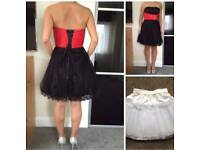 dress with petticoat