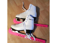 FreeSport Girls Figure Ice Skating Boots - barely used and really good condition UK Size 12