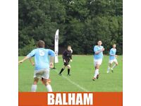 Play football in BALHAM, CLAPHAM, TOOTING, join South London football Network, play football london