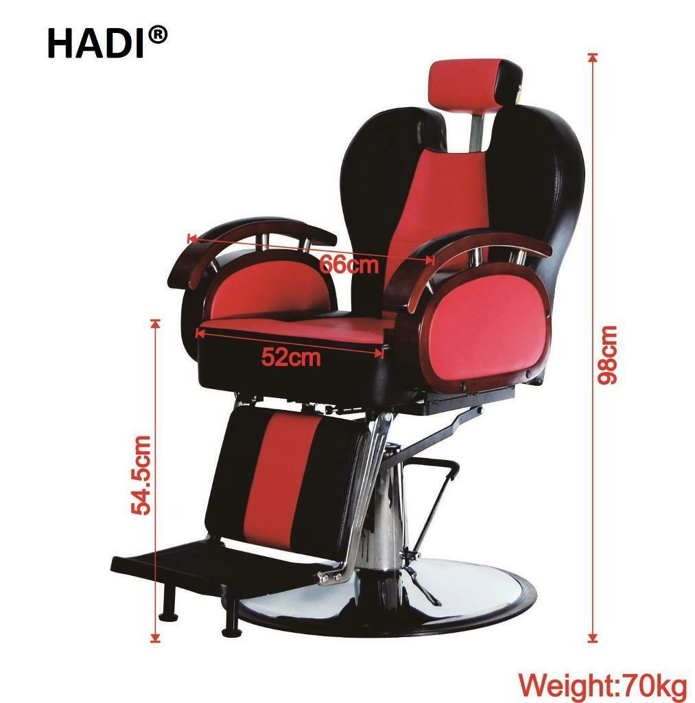 NEW HEAVY DUTY RED&BLACK HADI® BARBER CHAIR BC-24,CASH ON COLLECTION ONLY