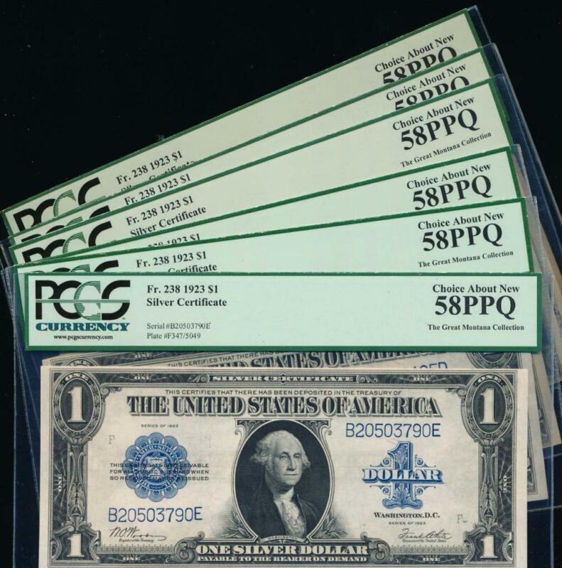 AC Fr 238 1923 $1 Silver Certificate PCGS 58 PPQ