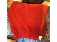"""Red velvet curtain length 72"""" width 46"""""""