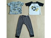 3 Piece Carter's Ninja Panda Print Mix and Match Baby Clothes Bundle Set 18 Months