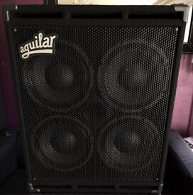 Aguilar GS410 4ohm Bass Cab in Pro Wheeled Flight case