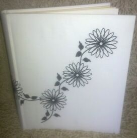 White Fabric Covered 25 Page Photo Album