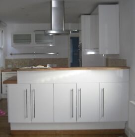 Used Kitchen units, worktop, oven, hob, sink