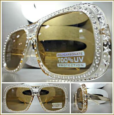 INSANE RETRO Style Party Club Rave PIMP DJ SUN GLASSES Funky Bling Square (Raving Glasses)