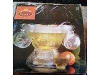 Bounty Glass punch Bowl Set 27 piece BNIB