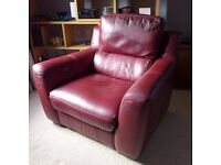 Large Electric Armchair - Contemporary Style - Removals Damaged - Bargain £50