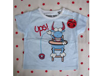 Unused. Planeta Toro Spanish pale blue round neck s/sleeve t-shirt. 12-18 mths. Can post. £2.50 ovno