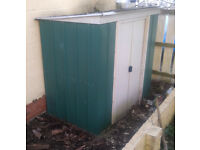 Metal Shed with Sliding Doors
