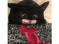 Halloween cat fleece dress.