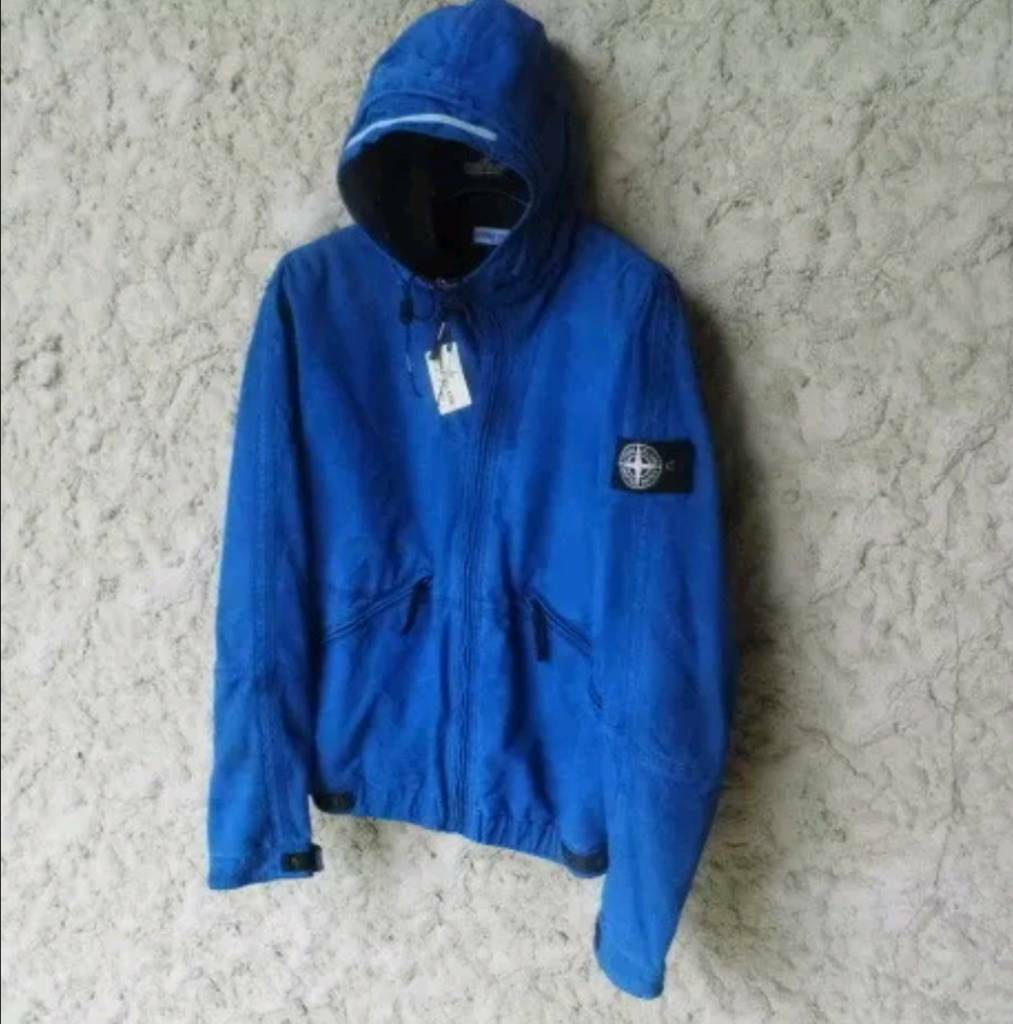 f168c1e8d Uber Uber rare Archive Stone island Vera Pelle Light Weight Leather hooded  jacket