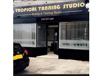 Busy sunbed shop for sale (Tropical tanning studio)