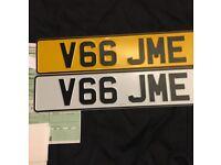 V66 JME number plate