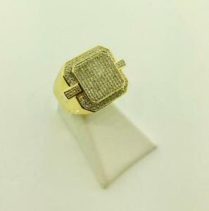 10kt Yellow Gold Mens Diamond Ring 0.62ct