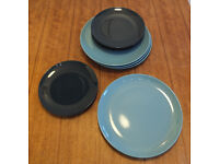 100 dinner plates and 100 side plates