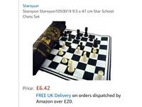 JOBLOT OF 30 INDOOR/OUTDOOR CHESS SETS. BRAND NEW.