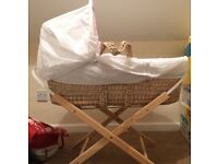 UNUSED Moses basket and stand