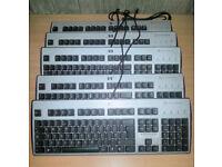 Job Lot of 10 x HP KUS0133 SmartCard Reader USB Keyboard UK QWERTY