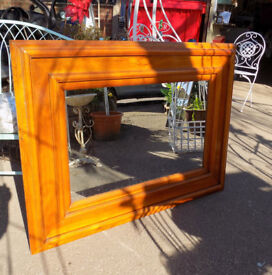 Large Chunky Pine Mirror