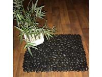 Handmade real pebble bath mats