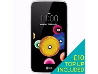 LG K4 Android Smartphone in White unlocked brand new