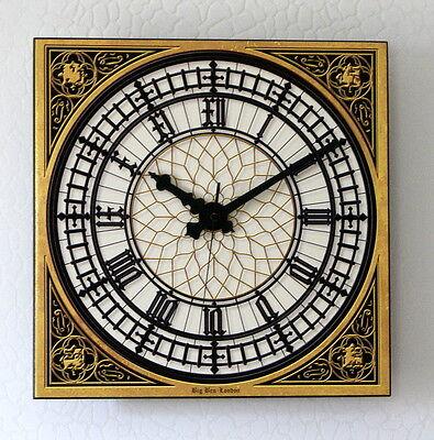 BIG BEN Uhr Westminster LONDON Funk Wanduhr 33 x 33 cm 3D Keramik auch in XXL *