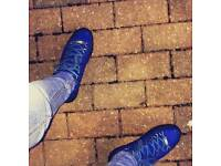 authentic blue high top balenciaga