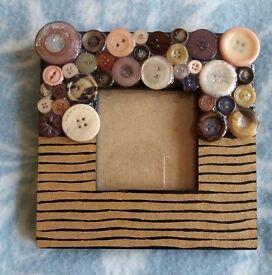 Button Mosaic Photo Frame